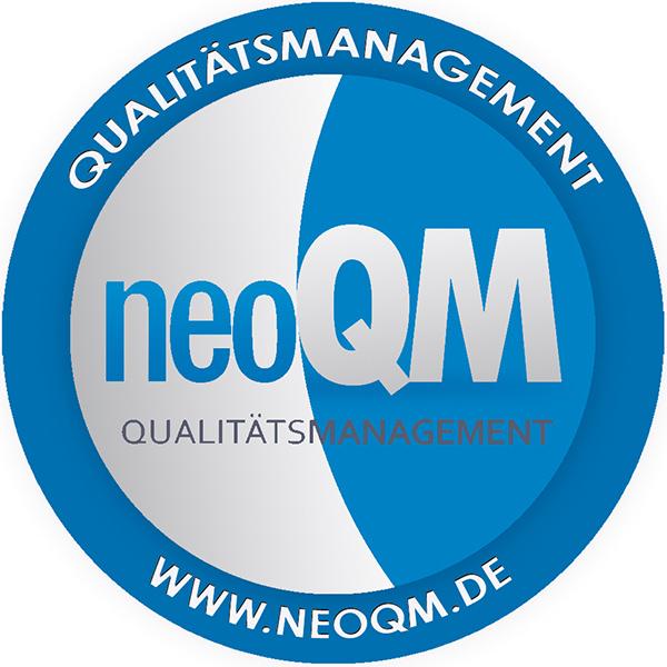 Logo neoQM Qualitätsmanagement - Qualitätssicherung - Frauenarzt Frauenärztin Gynäkologie Pränataldiagnostik Essen